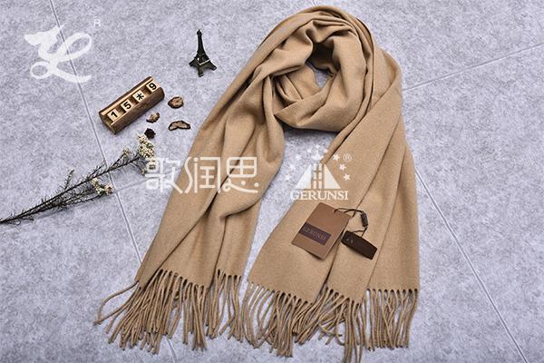 300克夹花围巾(米色长百搭保暖围巾)