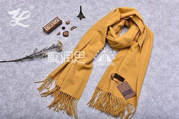 300克夹花围巾(姜黄新潮百搭防风围巾)