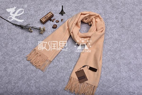 300克夹花围巾(黑色时尚长款保暖围巾)