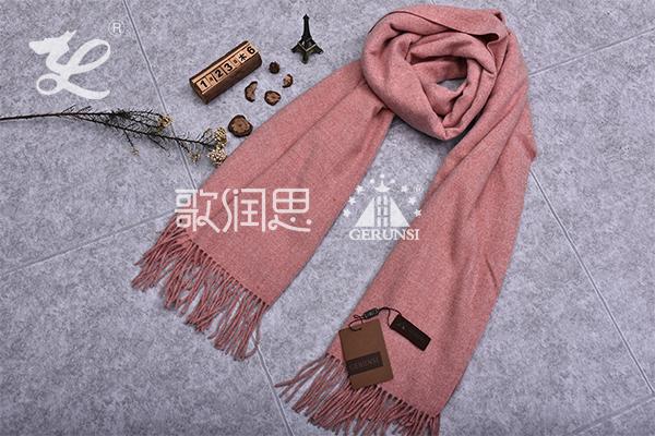 300克夹花围巾(枫红色时尚保暖围巾)