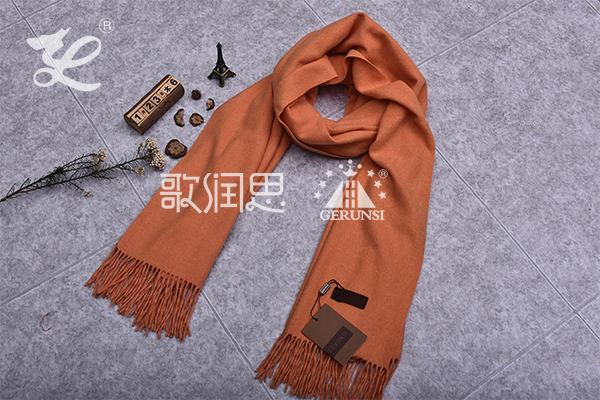 300克夹花围巾(香槟黄色简易防风围巾)