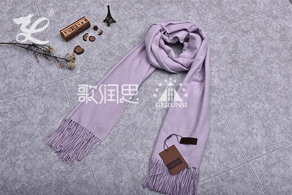 300克夹花围巾(浅紫色简易防风围巾)