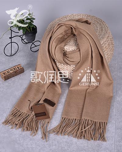 大斜纹300克围巾(米色保暖围巾)