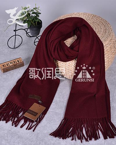 大斜纹300克围巾(红色咖啡色保暖趋势围巾)