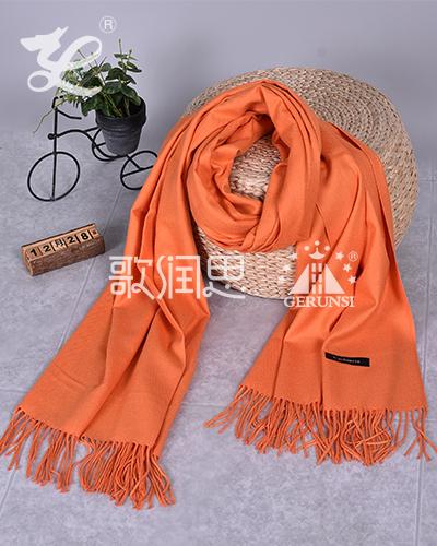 250克拉毛围巾(橙色百搭保暖围巾)