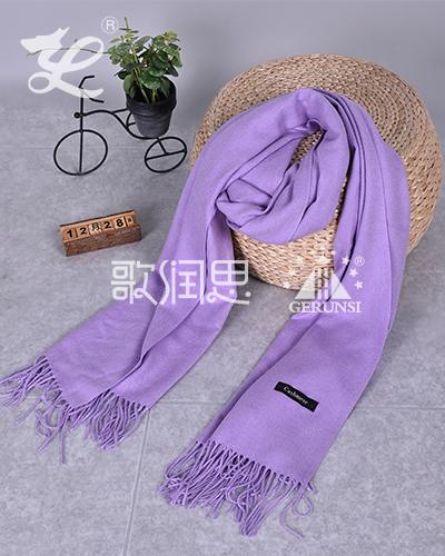 250克拉毛围巾(紫色保暖简约时尚围巾)